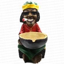 Jamaican Man Holding Ashtray Big