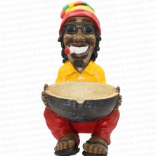 Jamaican Rasta Man Holding Ashtray Big