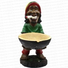 Jamaican Rasta Man Holding Ashtray Big