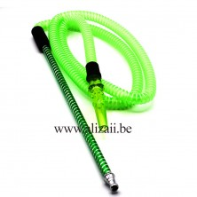 French Hose Shisha Pipe Black Hookah Limassol Cyprus-Green