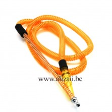 French Hose Shisha Pipe Black Hookah Limassol Cyprus-Yellow