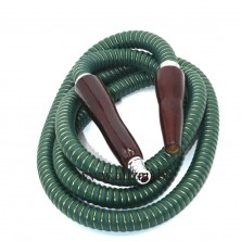 PU LEATHER SHISHA HOOKAH HOSE WITH WOOD MOUTH TIPS