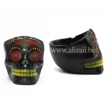 SUGAR SKULL ASHTRAY- Black