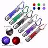 3 in1 LED Aluminium Torch Laser UV Light Pocket KeyRing 24 pcs