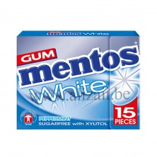 MENTOS GUM WHITE PEPPERMINT FLIPTOP 15 PCS