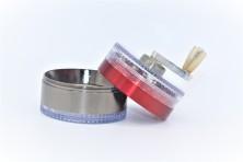 Plastic Metal Grinder 60*50mm 4 Layers Pollinator Crusher + Scraper