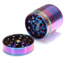Rainbow 4 Layers 40mm Hand Crank Herb Crusher Grinder Pollinator