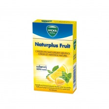 Vicks Bonbons Naturplus Fruit Lemon and Menthol Natural 20x40g
