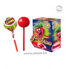 "Jake ""Super Gum"" lollipops with the taste of wild strawberry 100pcs"