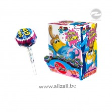 """Jake """"Super Gum"""" lollipops with Raspberry Flavour 100pcs"""