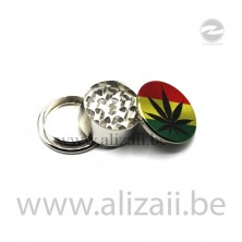 Cannabis Design Metal Grinder 3 Layer 43mm