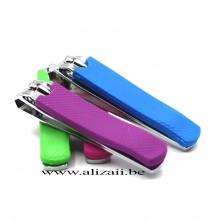 Stainless steel nail clippers with  rubber covers on one handle Big