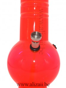 Orange Fluorescent Acrylic Bong