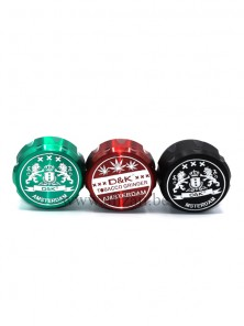D&K Drum Style 4 layers 63MM Metal Zinc Alloy Tobacco Grinder