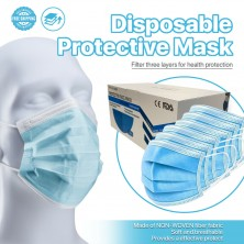 [50 Pcs] Disposable Face Mask Non Medical 3-Ply Ear Loop Protective Mouth Cover