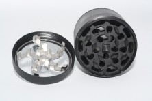 Metal Herb Grinder 63mm 4 layers with Window x10