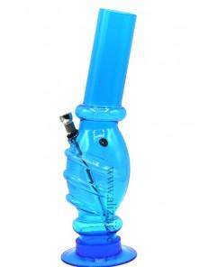 Acrylic Swirly Egg Bong- Blue