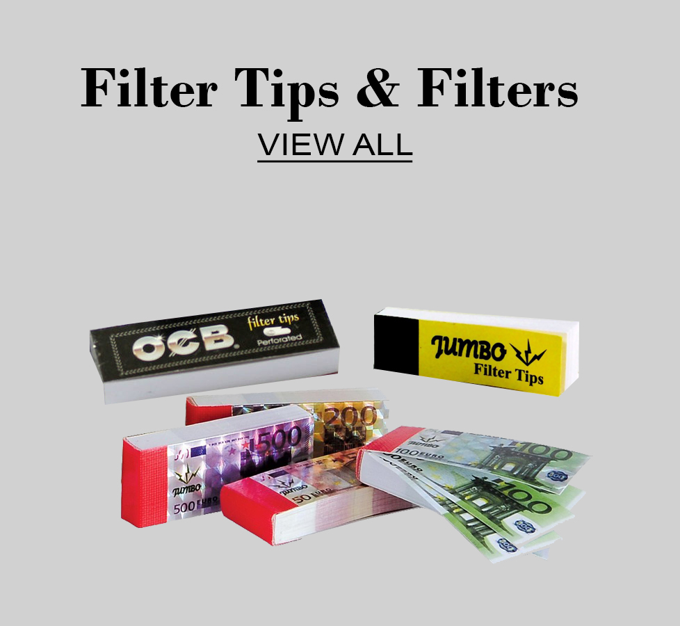 Filter tips & Filters  click here for more information